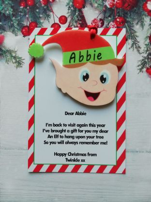 Elf Ornament Gift from your family elf to your child